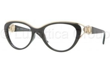 Versace VE3167 Eyeglass Frames GB1-5317 - Black Frame
