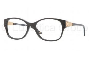 Versace VE3168B Bifocal Prescription Eyeglasses GB1-5217 - Shiny Black Frame