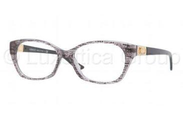 Versace VE3170B Eyeglass Frames 5002-5216 - Lizard Gray Frame, Demo Lens Lenses