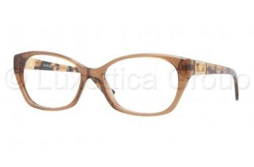 Versace VE3170B Eyeglass Frames 5028-5216 - Transparent Brown Frame