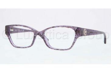 Versace VE3172 Single Vision Prescription Eyeglasses 5000-5216 - Lizard Violet Frame, Clear Lens Lenses