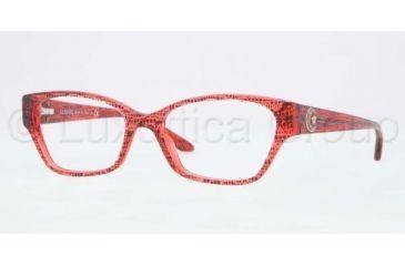 Versace VE3172 Single Vision Prescription Eyeglasses 5001-5216 - Lizard Red Frame, Demo Lenses