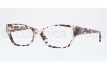 Versace VE3172 Single Vision Prescription Eyeglasses 999-5216 - Pink Havana Frame, Demo Lens Lenses