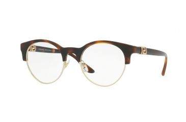 cd1c9fcce0 Versace VE3233B Single Vision Prescription Eyeglasses 5217-49 - Havana Frame