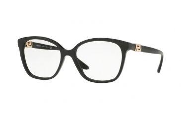 82e9e097237 Versace VE3235B Eyeglass Frames GB1-52 - Black Frame