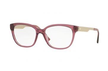 d4a3eb4fa29e Versace VE3240 Single Vision Prescription Eyeglasses 5209-52 - Transparent  Violet Frame