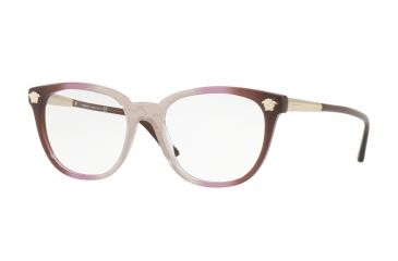 5f45b92763 Versace VE3242 Single Vision Prescription Eyeglasses 5229-54 - Violet  Transp Grad Brown Frame