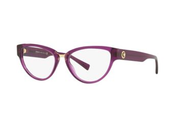 d01367e10f5 Versace VE3267A Progressive Prescription Eyeglasses 5291-53 - Transparent  Violet Frame