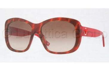 Versace VE4212 Sunglasses 880/13-5816 - Ruled Red Frame, Brown Gradient Lenses