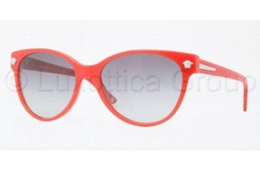 Versace JANUARY JONES VE4214 Progressive Prescription Sunglasses VE4214-942-11-5617 - Lens Diameter 56 mm, Frame Color Red