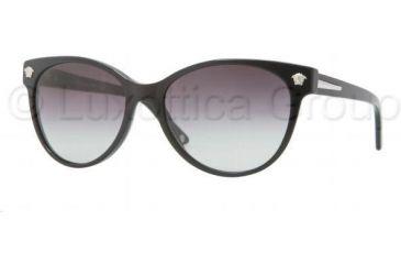 Versace JANUARY JONES VE4214 Single Vision Prescription Sunglasses VE4214-GB1-8G-5617 - Frame Color Black, Lens Diameter 56 mm