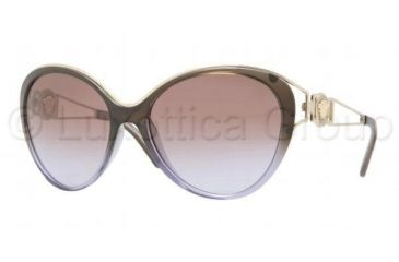 Versace VE4233 Sunglasses 500768-6017 - Brown Green Gradient Violet Frame, Brown Gradient Violet Lenses