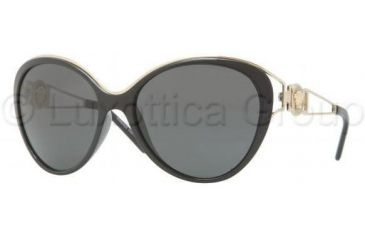 Versace VE4233 Sunglasses GB1/87-6017 - Black Frame, Gray Lenses