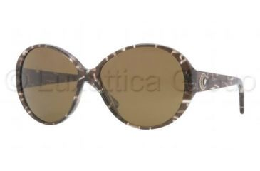 Versace VE4239 Sunglasses 969/73-5815 - Brown Glitter Frame, Brown Lenses