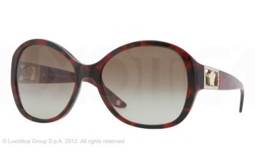 Versace VE4241B Progressive Prescription Sunglasses VE4241B-989-13-58 - Lens Diameter 58 mm, Frame Color Red Havana