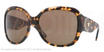 Versace VE4243 Single Vision Prescription Sunglasses VE4243-998-73-62 - Lens Diameter 62 mm, Frame Color Amber Havana