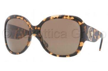 Versace VE4243 Sunglasses 998/73-6217 - Amber Frame, Havana Brown Lenses