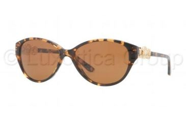 Versace VE4245 Sunglasses 998/73-5315 - Amber Frame, Havana Brown Lenses