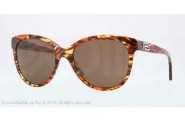 Versace VE4246B Sunglasses 500373-56 - Striped Honey/Brown/Orange