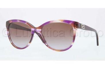 Versace VE4246B Sunglasses 968/68-5618 - Striped Violet Frame, Brown Gardient Lenses