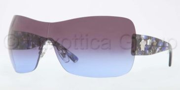 Versace VE4248 Sunglasses 502279-0137 - Silver Frame, Violet Gradient Lenses