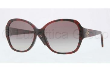 Versace VE4252 Sunglasses 989/11-5716 - Red Havana Frame, Gray Gradient Lenses