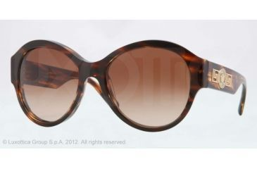 Versace VE4254 Sunglasses 502513-57 - Striped Havana
