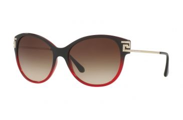 7460241fb6a0 Versace VE4316B Sunglasses 507513-57 - Transp Red Gradient Black Frame