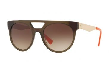 c39a99999f06 Versace VE4339 Sunglasses 523513-55 - Transparent Green orange Frame