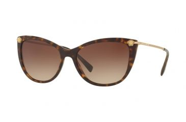 265f01d16ddf Versace VE4345BA Sunglasses 108 13-57 - Havana Frame