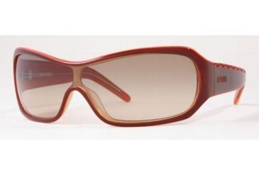 Versus VR6040-625-13-0135 Sunglasses Top Brown On Orange Frame / Brown Gradient Lenses