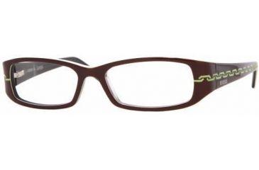 Versus VR8059-573-5215 Eyeglasses with No Line Progressive Rx Prescription Lenses Top Brown On Transparent Gray Frame