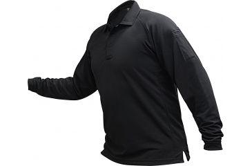 Vertx Men's Coldblack Long Sleeve Polo Shirt, Black, Size 2XL VTX4020BKP-2XL