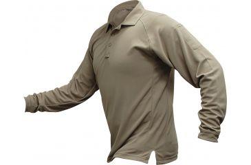 Vertx Men's Coldblack Long Sleeve Polo Shirt, Tan, Size 2XL VTX4020TNP-2XL
