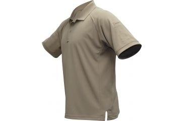 Vertx Men's Coldblack Short Sleeve Polo Shirt, Tan, Size 2XL VTX4000TNP-2XL