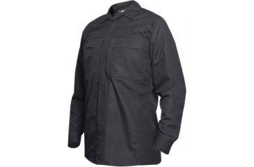 Vertx Phantom Ops L/S Zipper Shirt- Black Ripstop 65P/35C, 2XL-Long VTX8720BK-2XL-LONG