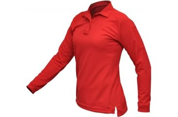 Vertx Women's Coldblack Long Sleeve Polo Shirt, Red, Size Large VTX4030RDP-LARGE