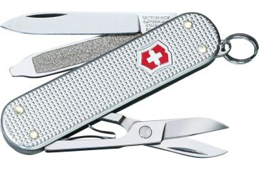 Victorinox Classic SD Silver Alox Swiss Army Knife Silver Alox Ribbed 53012