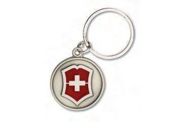 Victorinox Cross and Shield Key Chain Swiss Army Keyholders Nickel-plated Silver 33730