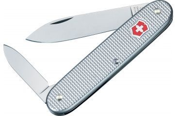 Victorinox Pioneer Settler Swiss Army Knife Silver Alox Ribbed 53966