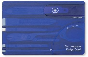Victorinox SwissCard Translucent Swiss Army MultiTools Sapphire 53928