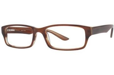 Visions 191 Single Vision Prescription Eyeglasses - Frame Blond Tortoise VIVISION19103