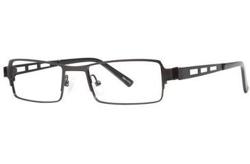 Visions 193 Progressive Prescription Eyeglasses - Frame Black/Black, Size 50/18mm VIVISION19301
