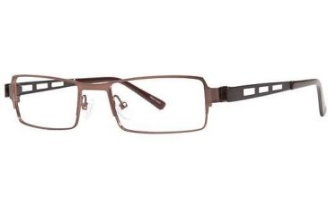 Visions 193 Bifocal Prescription Eyeglasses - Frame Brown/Pewter, Size 50/18mm VIVISION19302