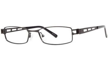 Visions 194 Single Vision Prescription Eyeglasses - Frame Black/Pewter, Size 51/17mm VIVISION19401