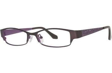 Visions 195 Progressive Prescription Eyeglasses - Frame Brown/ Dark Purple, Size 51/16mm VIVISION19501