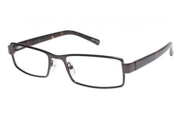 Visions 197 Single Vision Prescription Eyeglasses - Frame Matte Gun/ Tortoise, Size 54/18mm VIVISION19701