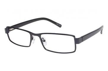 Visions 197 Single Vision Prescription Eyeglasses - Frame Matte Navy/ Black, Size 54/18mm VIVISION19703