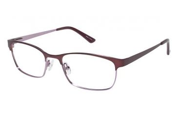 Visions 200 Single Vision Prescription Eyeglasses - Frame Matte Raspberry/ Light Pink, Size 53/16mm VIVISION20003