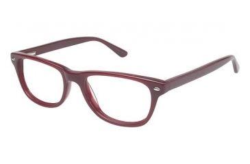 Visions 203 Bifocal Prescription Eyeglasses - Frame Burgundy, Size 49/16mm VIVISION20303
